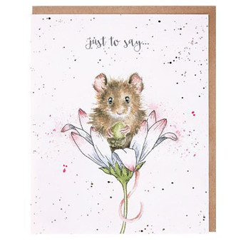 Wrendale Just To Say Mouse Card