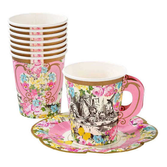 Truly Alice 12 Cups and Saucers