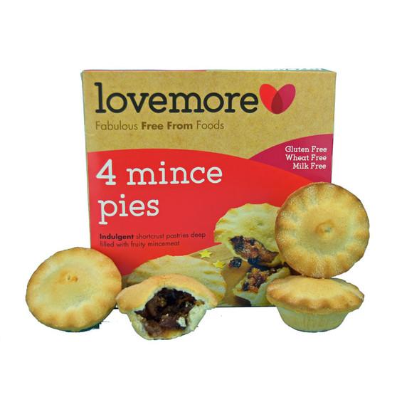 Mince Pies Lovemore Gluten Free Luxury Mince Pies