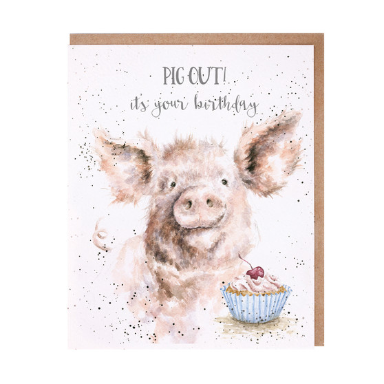 Wrendale Pig Out Card
