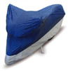 Motorcycle Cover - Lightweight (S-XL), Blue/Silver
