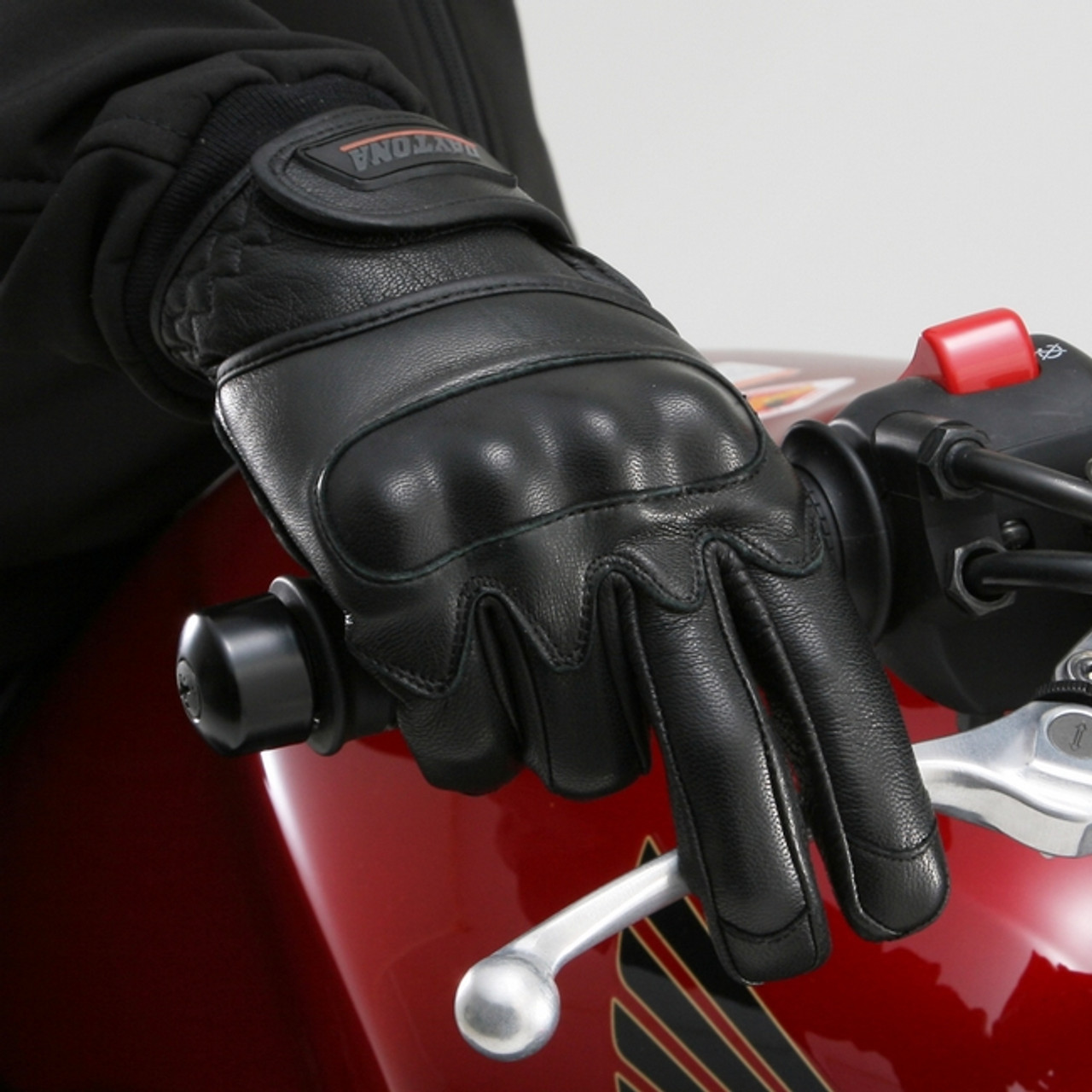 Henly Begins (Japan) Goat Skin Motorcycle Gloves Protection Type, Black - Free Shipping NZ