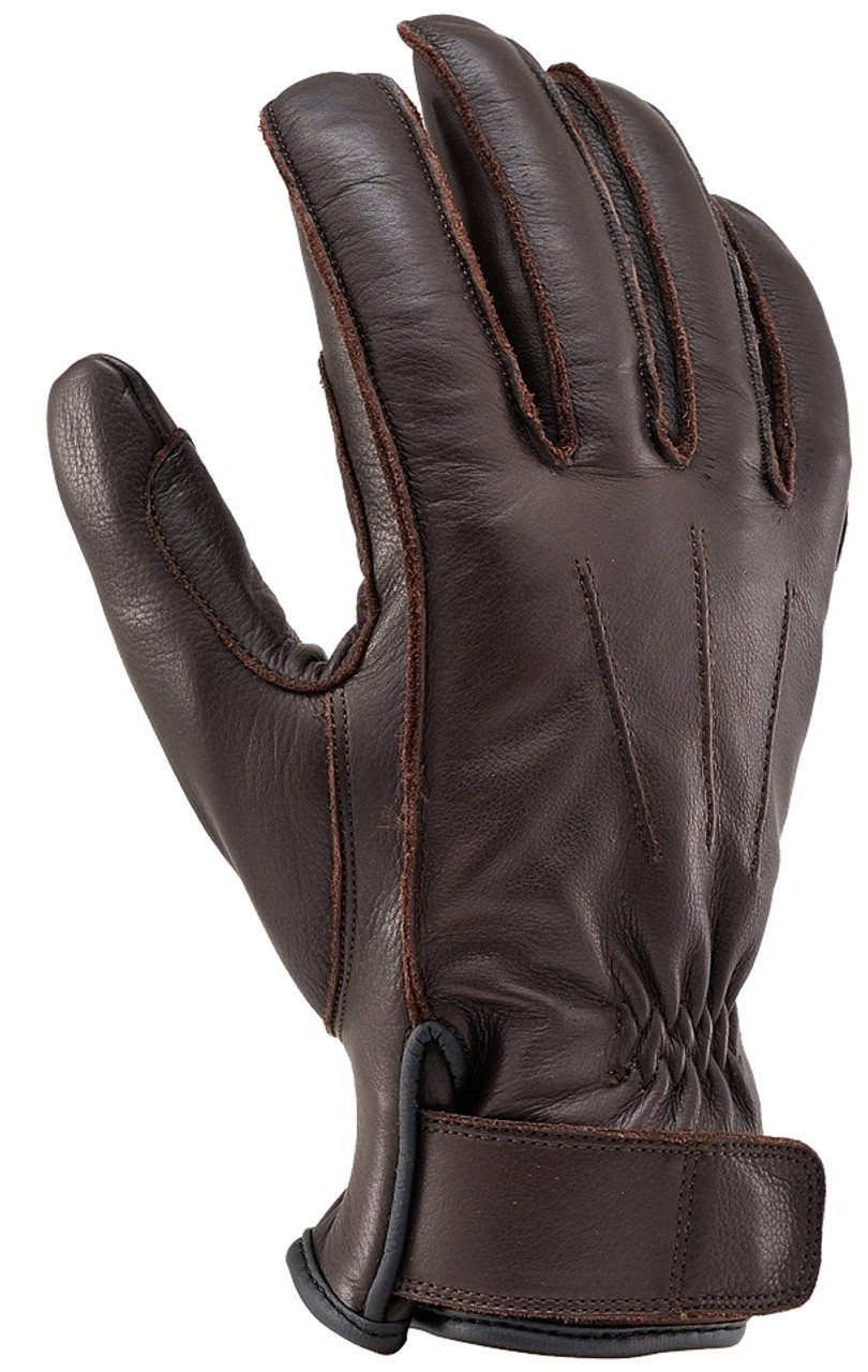 Henly Begins HBG-023 Cowhide, Outer Stitch Gloves, BR/XL