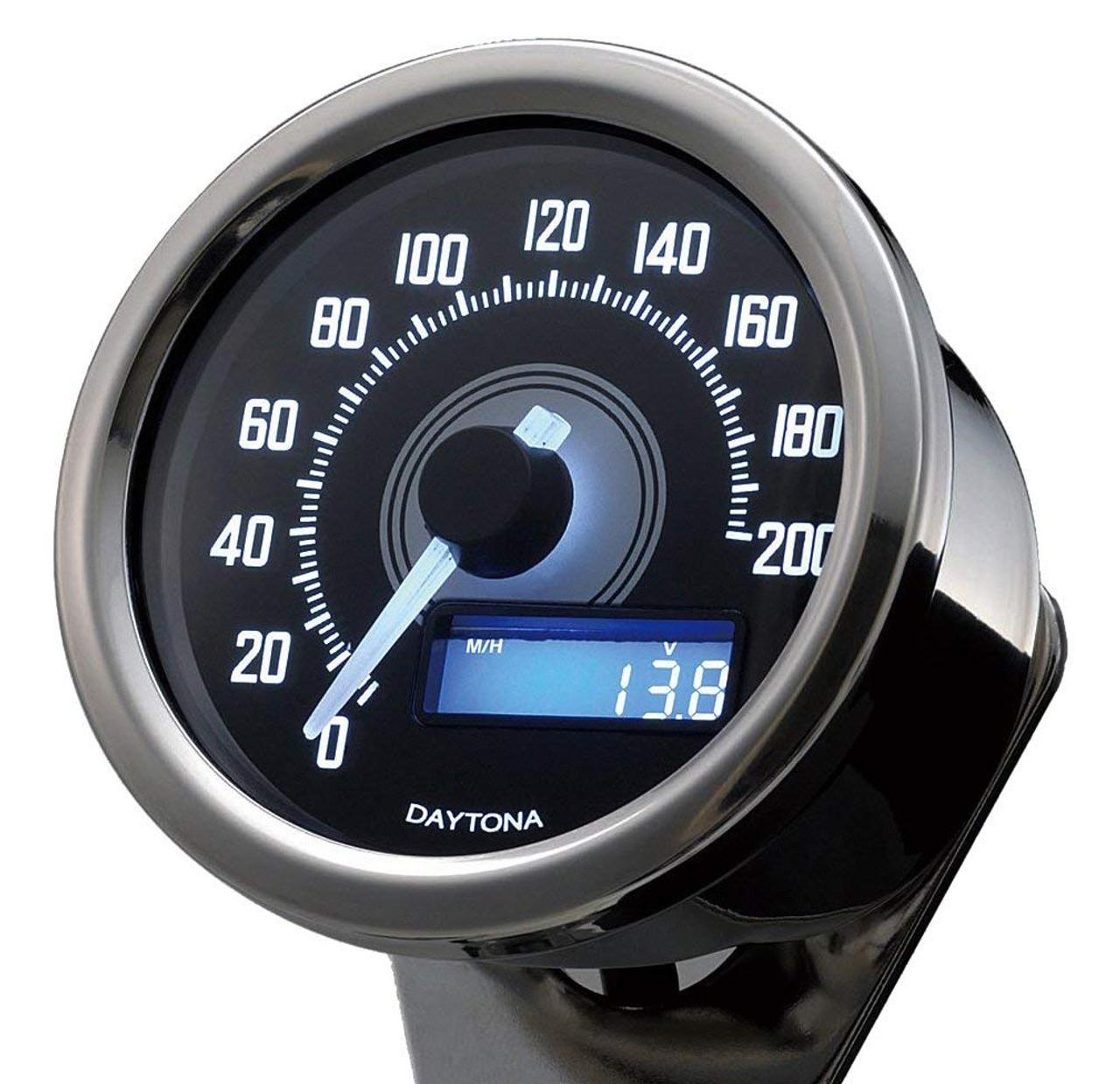 Daytona Velona Speedometer, 60mm 200kmph, Polished Chrome