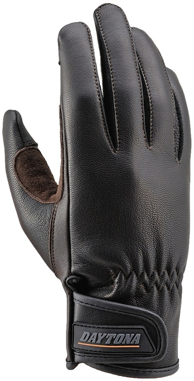 Henly Begins HBG-009 Goat Skin Motorcycle Gloves, Standard, Black/Brown
