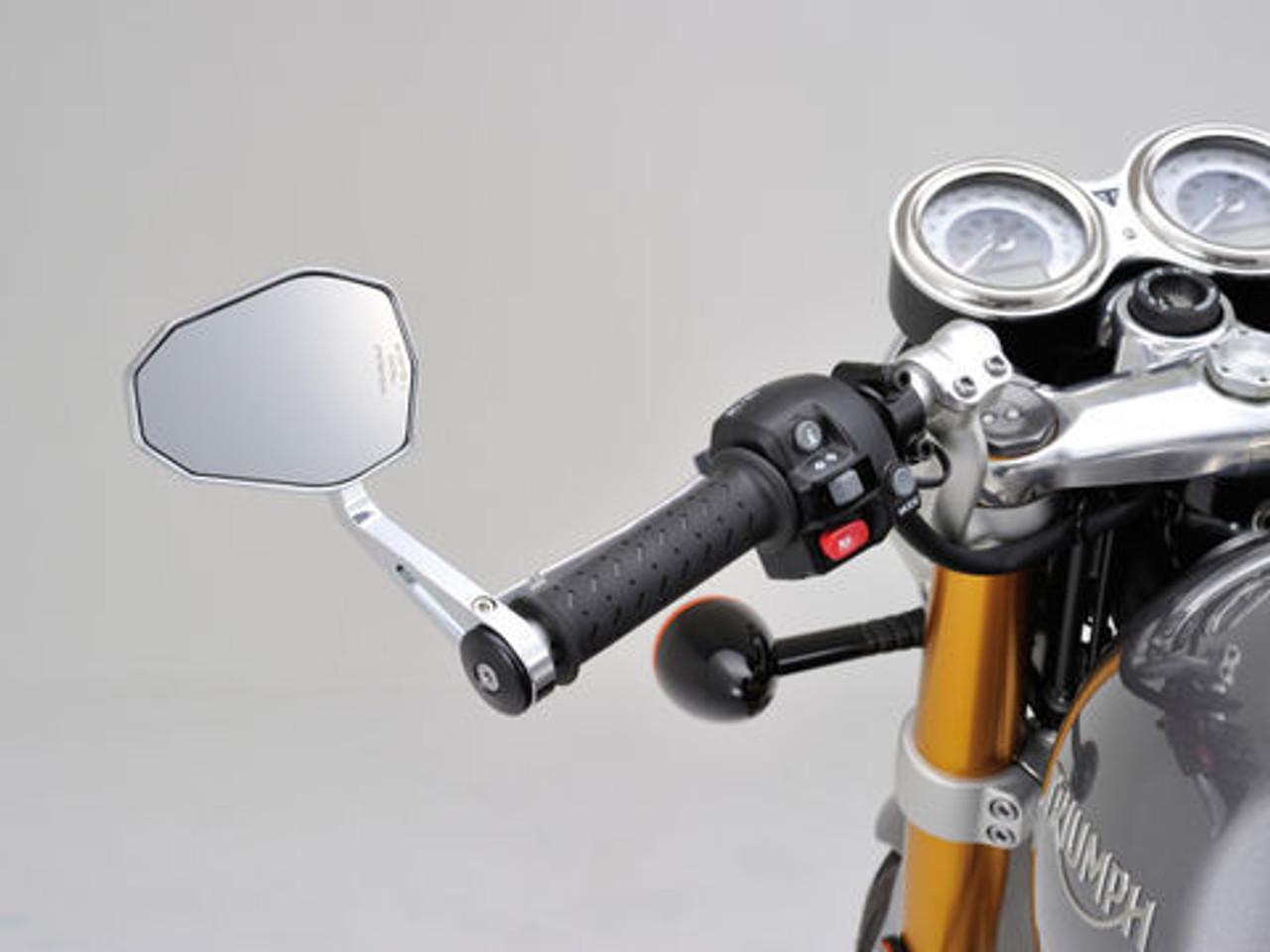 Daytona Highsider Bar End Mirror, Victory, Chrome
