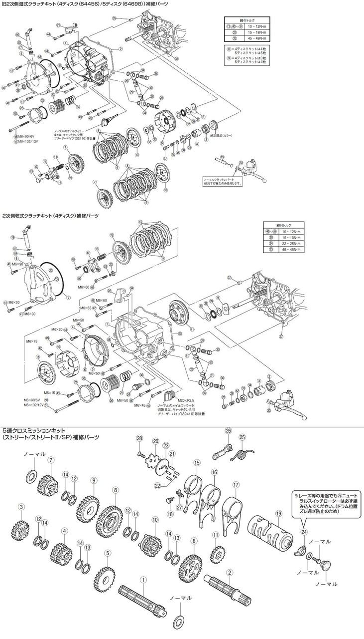 [Clutch Kit Share Spare Parts] Primary Driven Gear