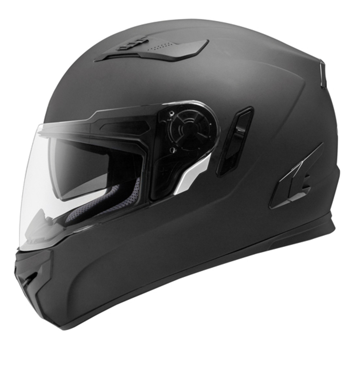 Streetpro R Full Face Helmet, with Internal Tinted Visor, Matt Black
