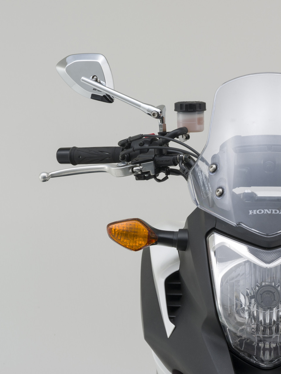 Daytona Motorcycle D-Mirror, Chrome, M10×P1.25, CLEARANCE CLOSE OUT SALE!