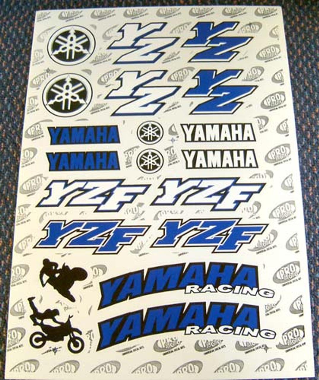 Motorcycle Decal Kit / Set, Yamaha Racing, YZ/YZF, 20pc FREE SHIPPING NZ