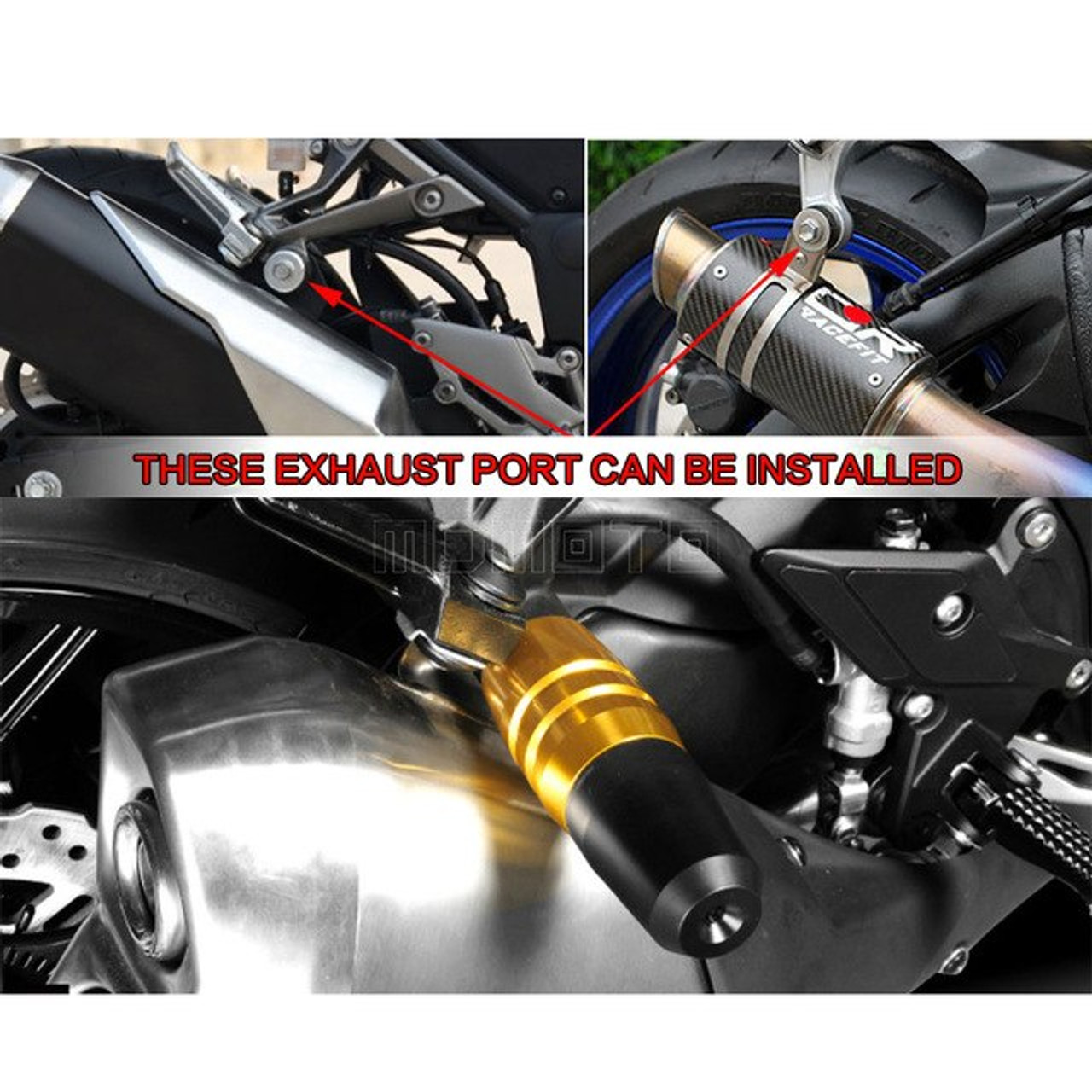 Frame Slider Anti Crash Caps / Exhaust Sliders, Yamaha T-Max 530 T-Max 530, 8mm T-Max 500 R3 R25 R15
