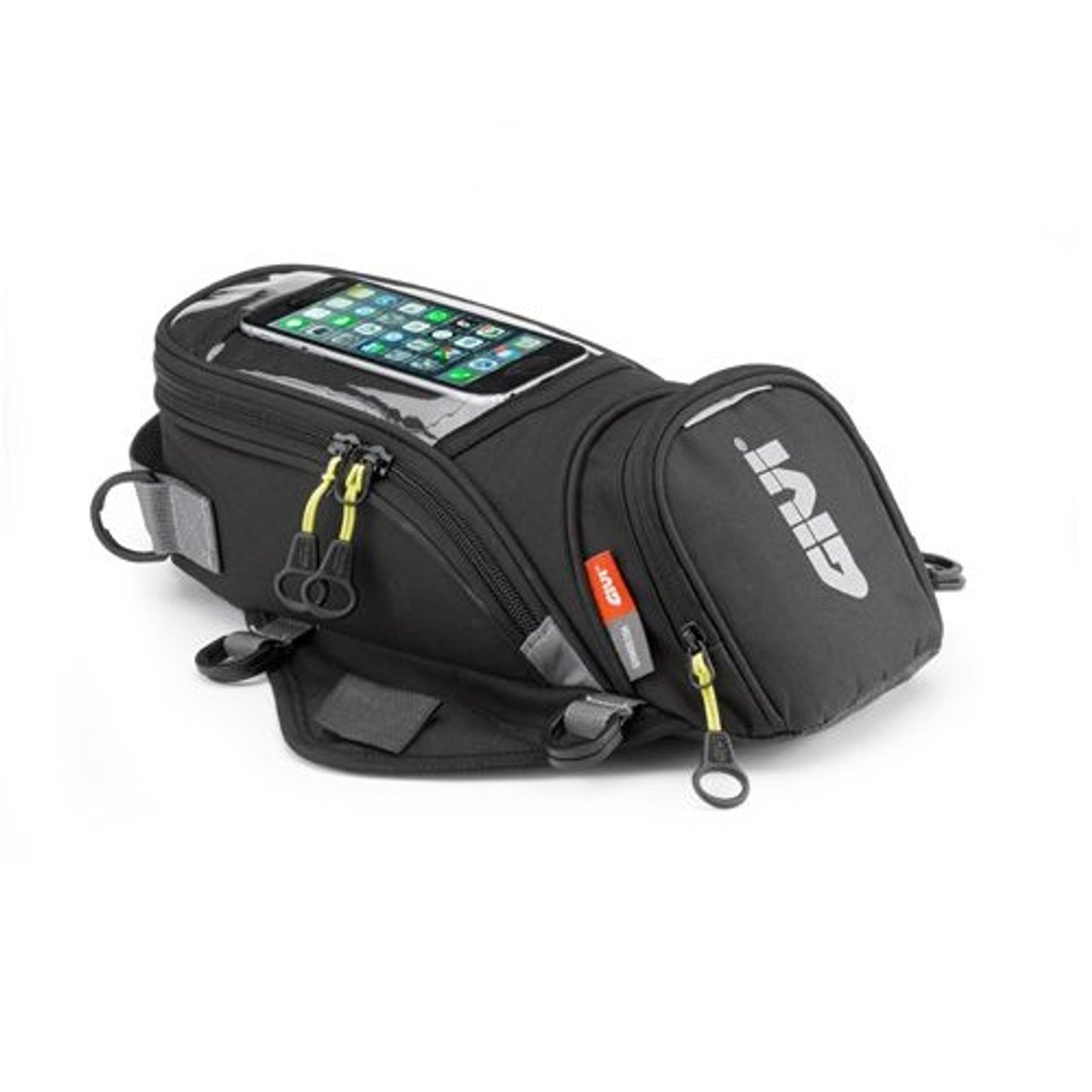 Givi EA106B Soft Tank Motorcycle Bag 6 Litre, with Magnestic Strap, Phone Window, Black