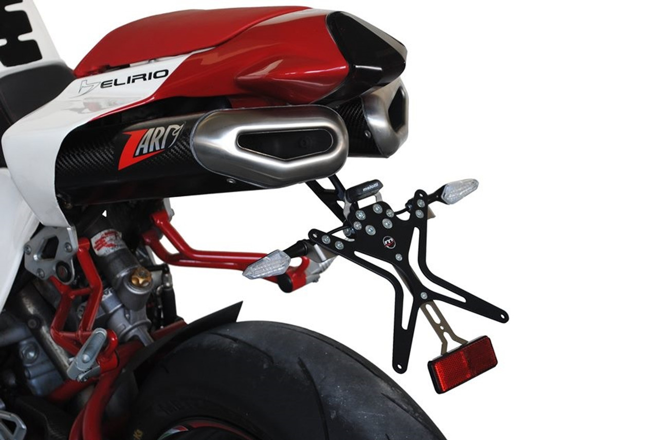 Melotti Racing Bimota DB5/DB5R and DB6/DB6 Delirio,  Number Plate Holder, Tail Tidy, CNC Machined Motorcycle, Black, Made in Italy