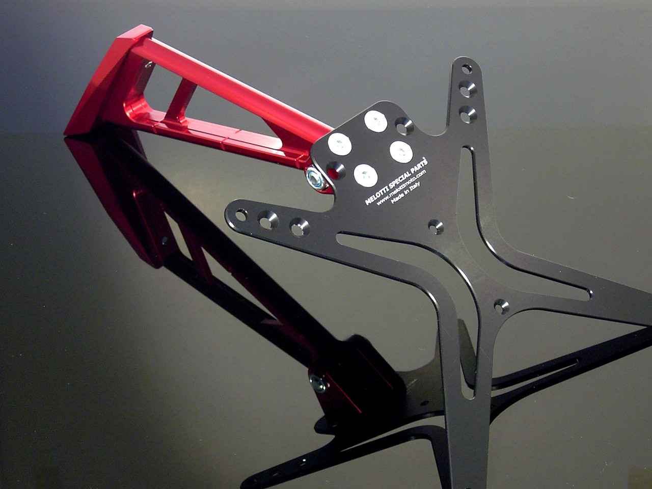 Melotti Racing Ducati 848-1098-1198, Number Plate Holder, Tail Tidy, CNC Machined Motorcycle, Red, Made in Italy