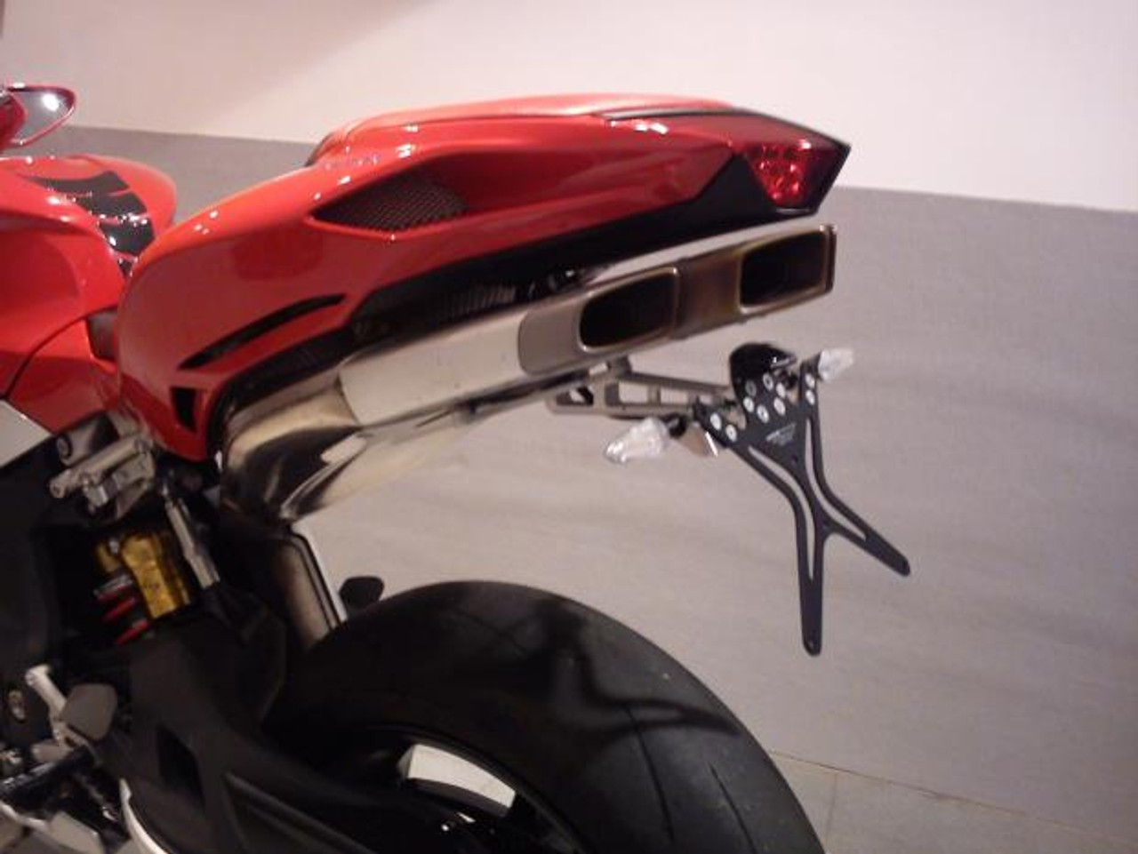 Melotti Racing MV Agusta F4 (2010-2012),  Number Plate Holder, Tail Tidy, CNC Machined Motorcycle, Steel, Made in Italy