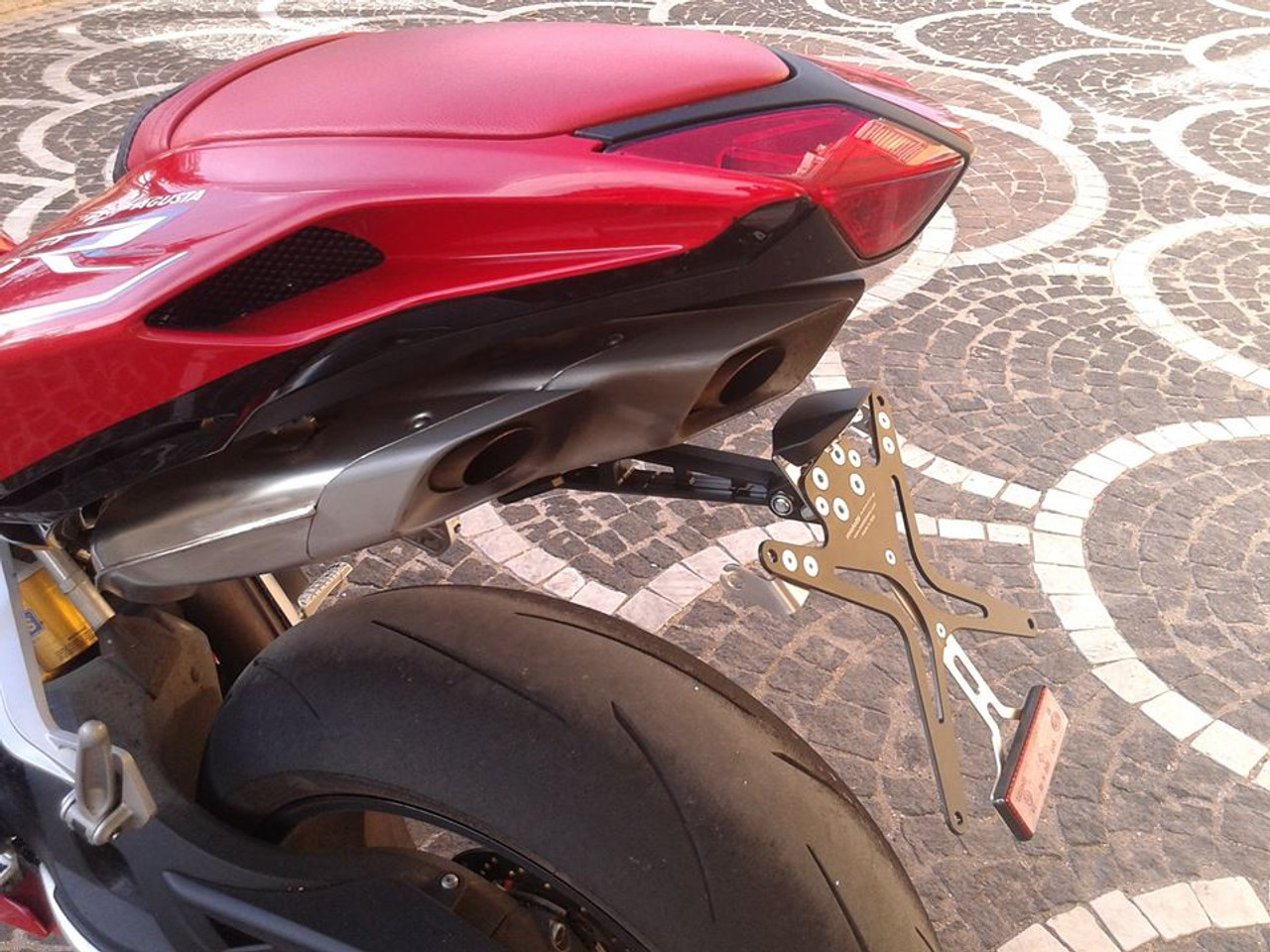 Melotti Racing MV Agusta F4 (2013-2016),  Number Plate Holder, Tail Tidy, CNC Machined Motorcycle, Black, Made in Italy