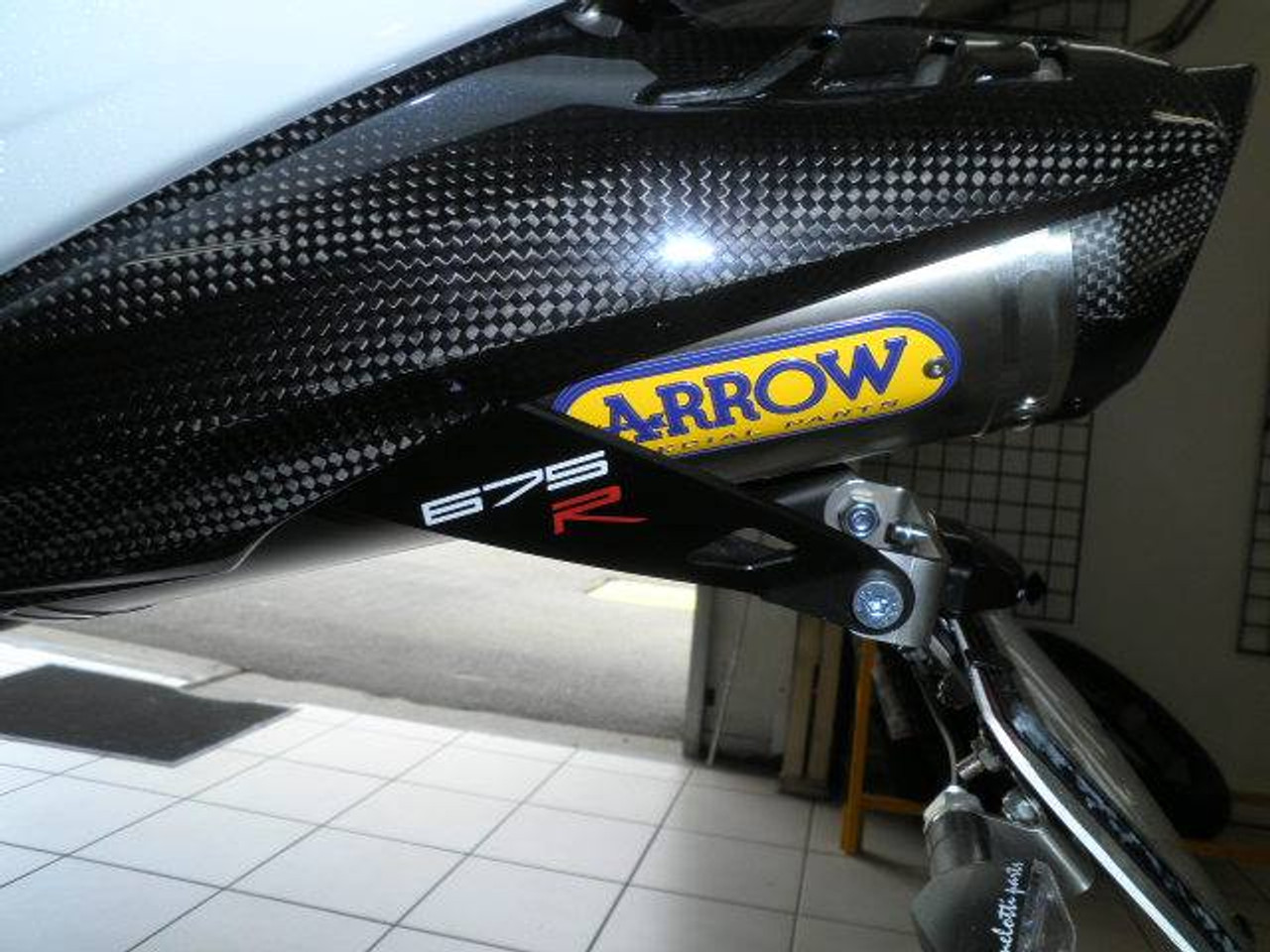 Melotti Racing Triumph DAYTONA 675-R (2006-2012),  Number Plate Holder, Tail Tidy, CNC Machined Motorcycle, Natural Steel, Made in Italy