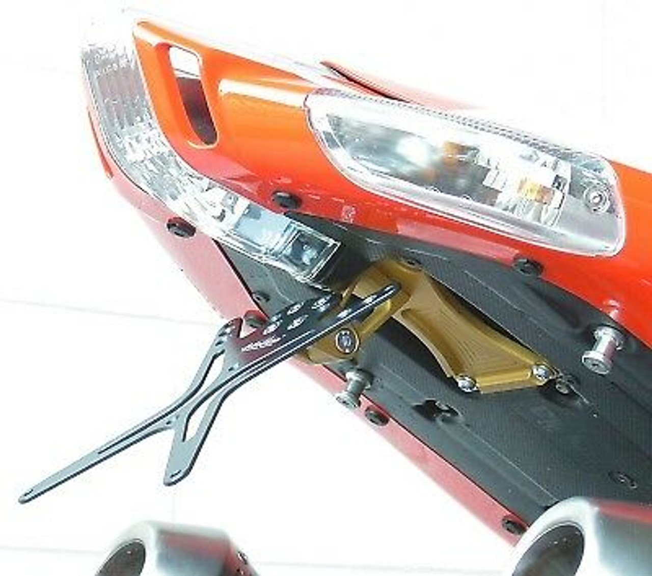 Melotti Racing Aprilia RSV1000 2006-09 / TUONO 2006-10, Number Plate Holder, Tail Tidy, CNC Machined Motorcycle, Black, Made in Italy