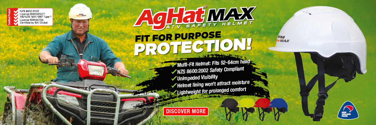 Bulk Buy Bundle 6 x FFM AgHat2 Black - CLOSEOUT Sale! FREE SHIPPING NZ, Safety Standards, for Farming, Forestry, Agriculture & Construction