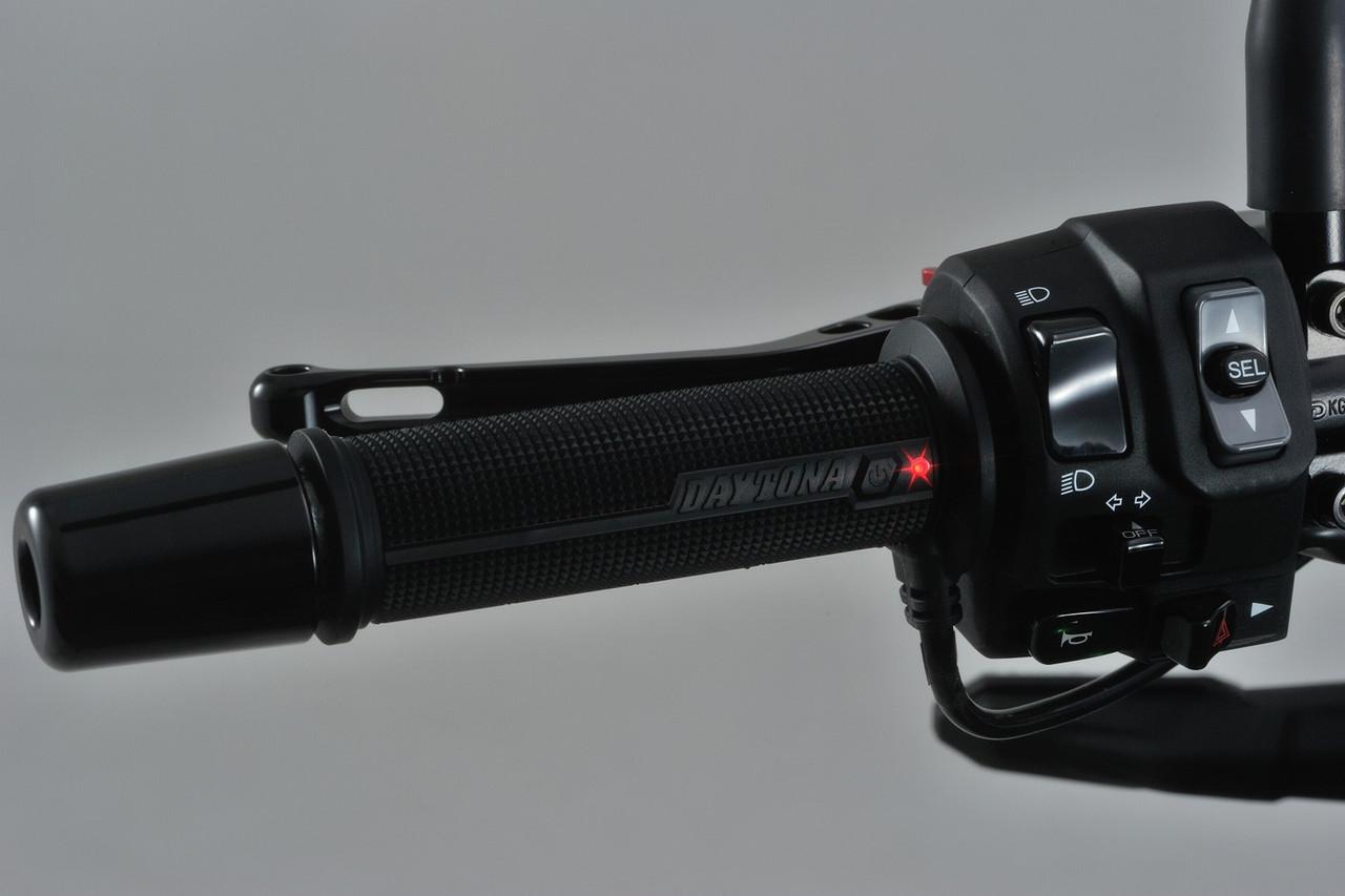 Daytona (Japan) Heated Grips, 4-Level, 12V for 22.2 mm (7/8 inch) Handlebar Open End