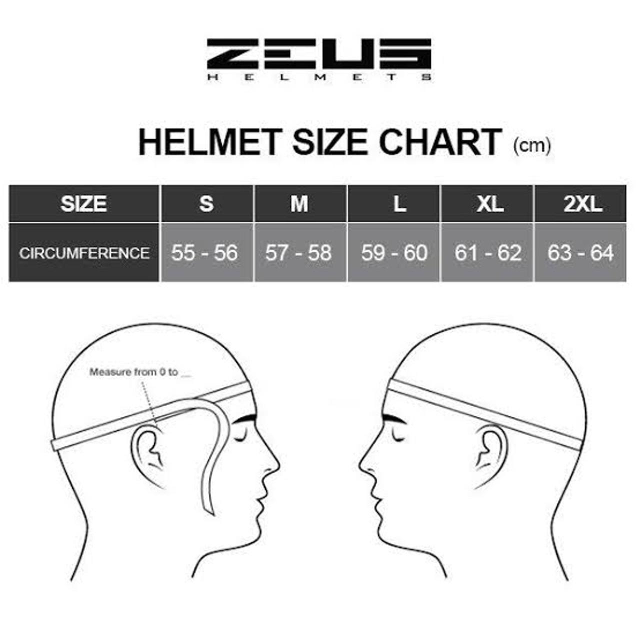 Zeus 811 Full Face Motorcycle Helmet, Black/Red