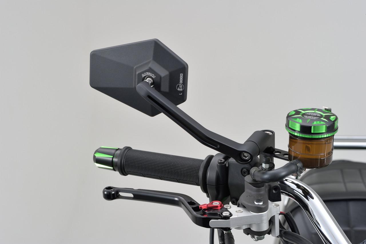 """Daytona Motorcycle Aluminium """"D-MIRROR-4"""" Mirror Hexagon/Rod Type, Black"""