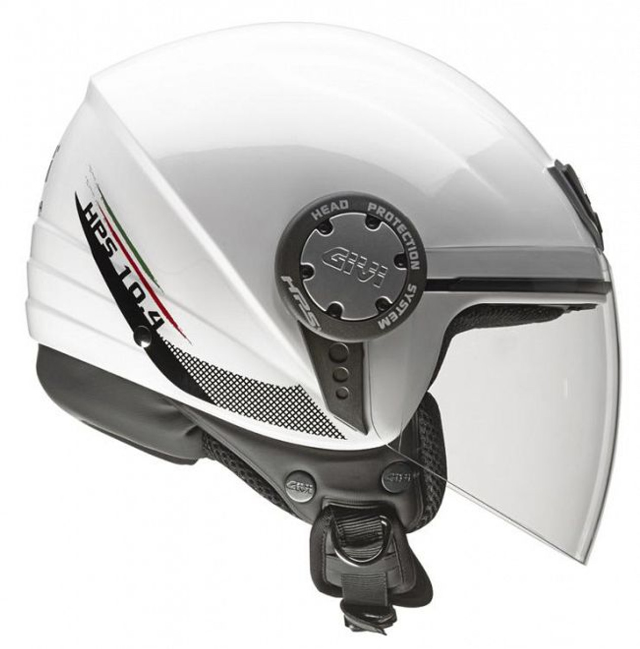 H104 Scooter Open Face Helmet - White, XS only 54cm