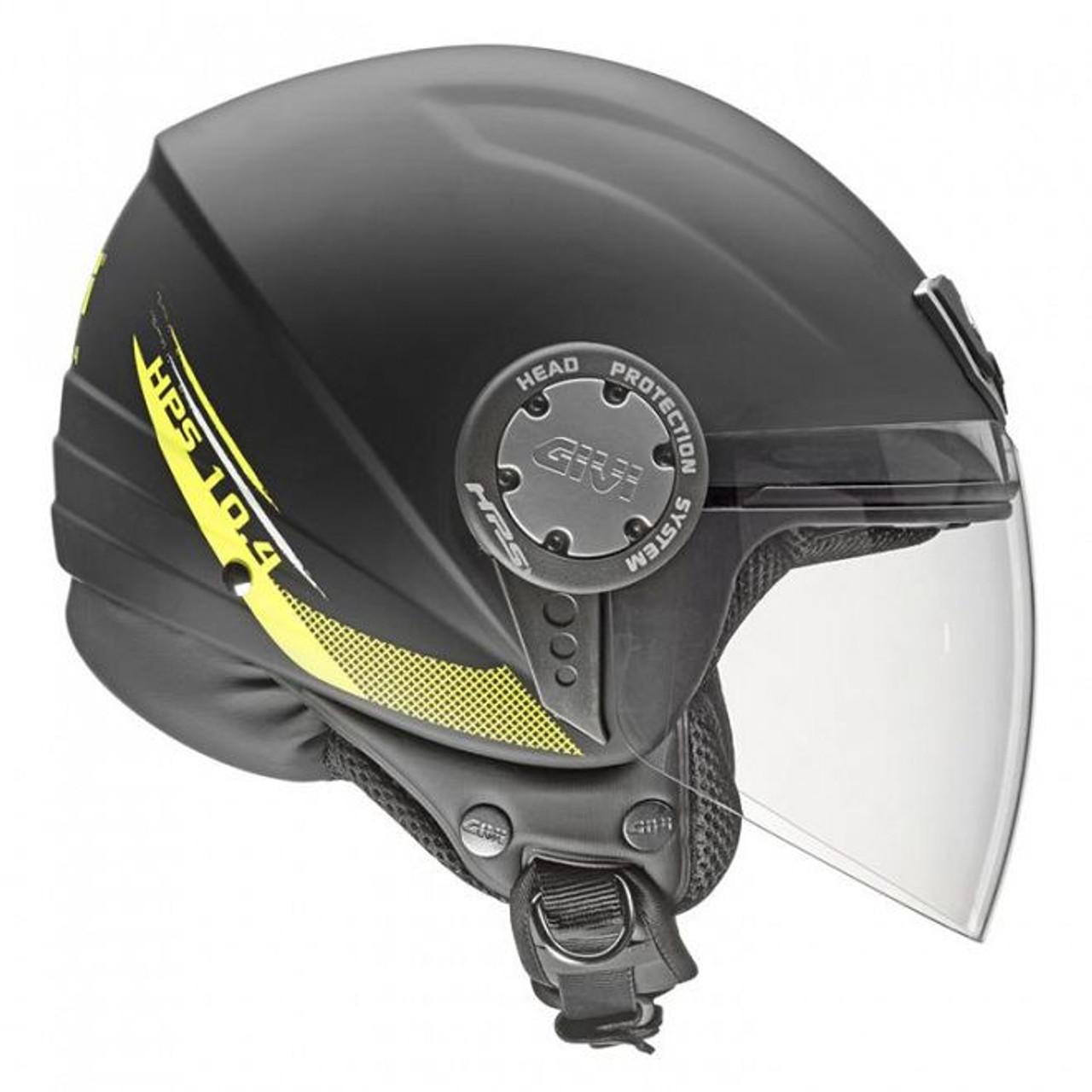H104 Scooter Open Face Helmet - Matt Black , XS only 54cm