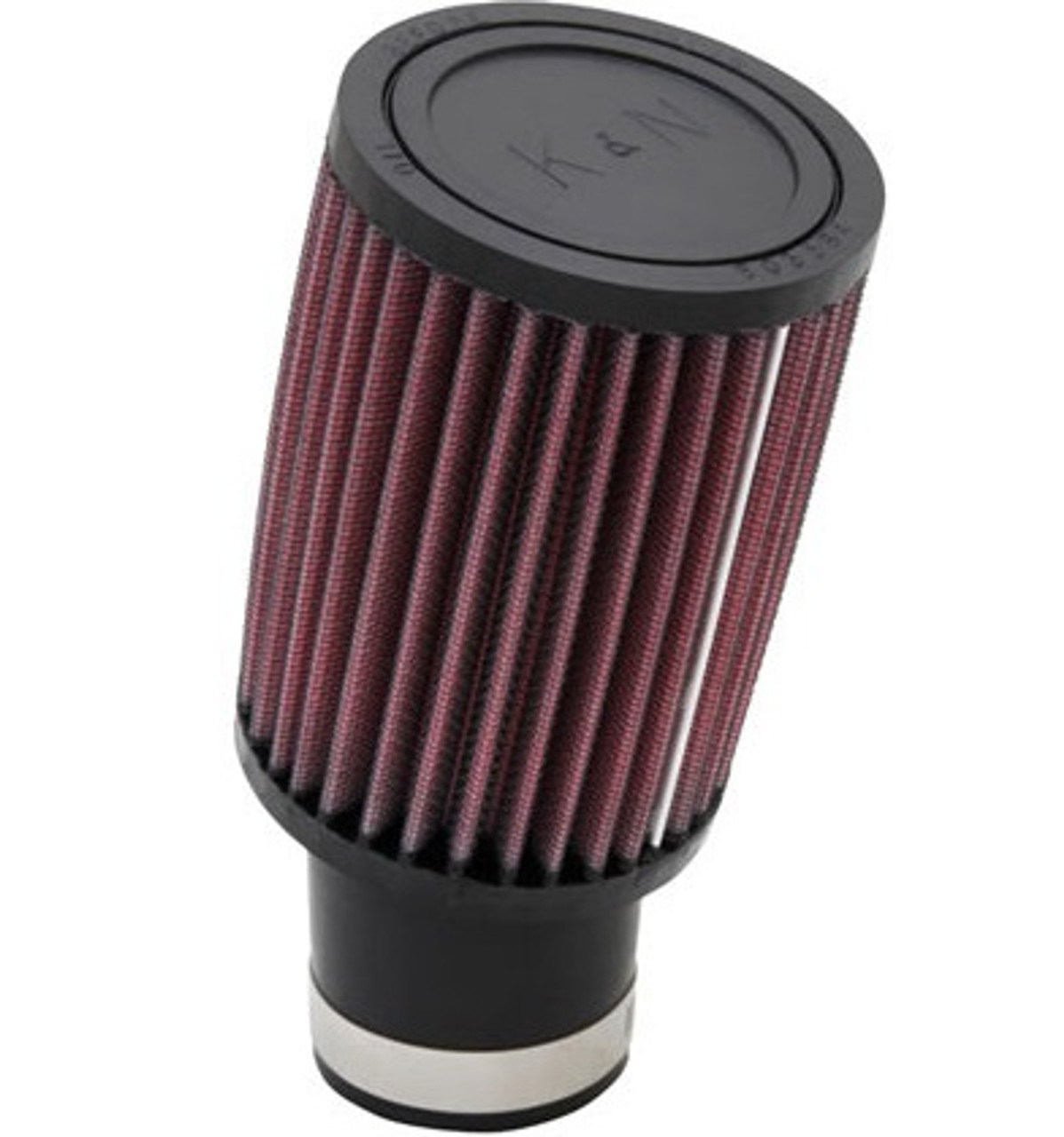 "Air Filter, K&N, RU-1780 Universal Clamp-On,  52mm inlet x 5"" Long (17 degree angled flange)"
