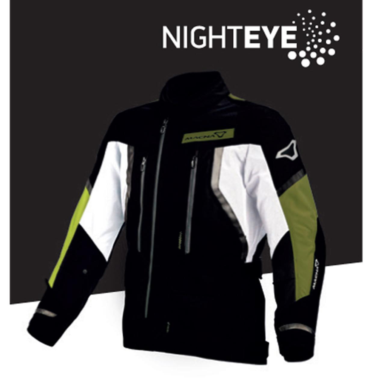 Macna Epitude Motorcycle Jacket - Men, Waterproof, Black / Night Eye / Yellow