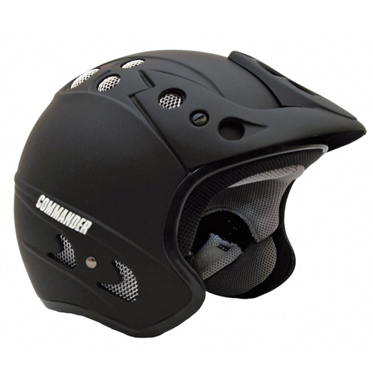 Commander - Scooter/ATV Open Face Jet Helmet - Matt Black