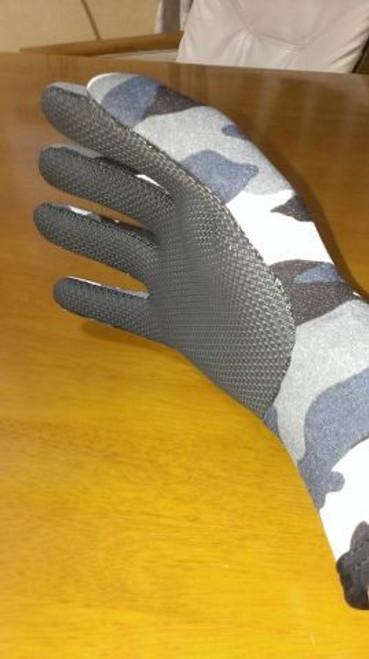 Daytona Ridemitt # 003 Neoprene Waterproof Motorcycle Gloves, Grey/Camo