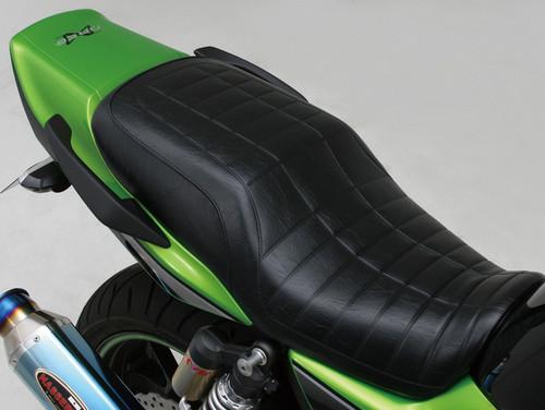 Cozy Lower Seat, S1 Pattern, Black, Kawasaki ZRX1100, ZRX1200