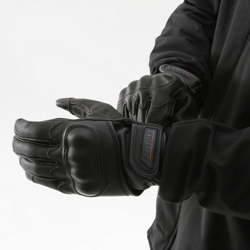 Henly Begins (Japan) Goat Skin Motorcycle Gloves Protection Type, Black