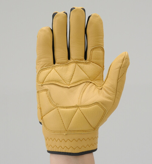 Henly Begins Goat Skin Motorcycle Gloves Protection Type, Yellow