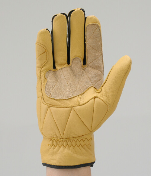 Henly Begins Goat Skin Motorcycle Gloves Standard Type, Yellow