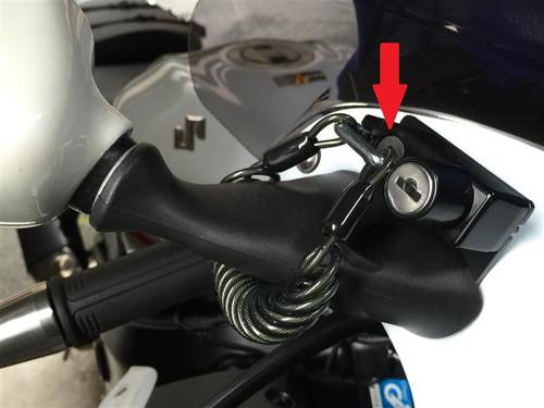 Helmet Holder Mirror Clamp, 1200mm, Honda CBR250R 11-13