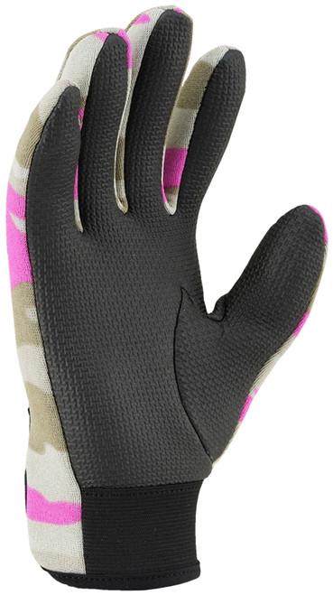Ridemitt # 001 Neoprene Sharkskin Motorcycle Gloves, Pink Camo