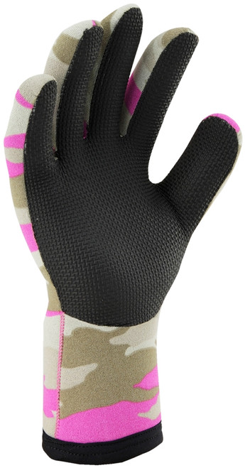 Ridemitt # 003 Neoprene Waterproof Motorcycle Gloves, Pink Camo