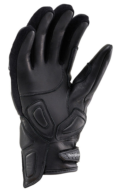 Henly Begins Carbon Short Motorcycle Gloves HBG-021 AW, Black