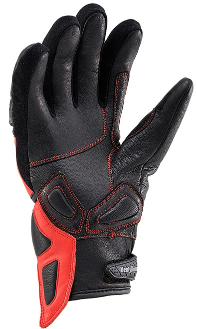 Henly Begins Carbon Short Motorcycle Gloves HBG-021 AW, Red