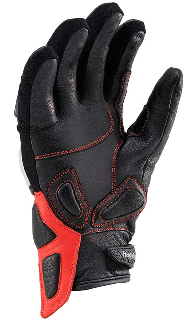 Henly Begins Carbon Short Motorcycle Gloves HBG-021 AW, Asymmetric Silver