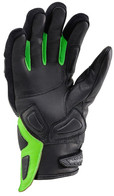 Henly Begins Carbon Short Motorcycle Gloves HBG-021 AW, Green