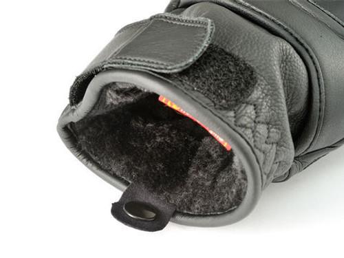 Henly Begins HBG-022 Cowhide, PRT Short Motorcycle Gloves,  Black