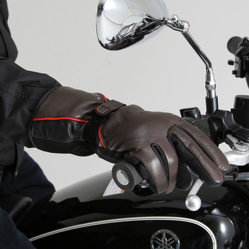Henly Begins DS615 Motorcycle Gloves, Combi, Cow Hide, Brown/Black