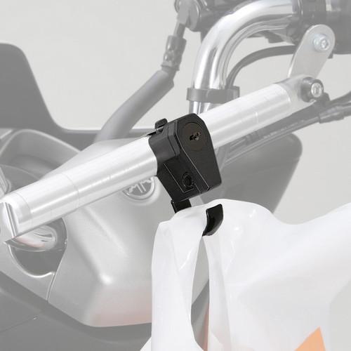 Helmet Lock with Hook, Black, Yamaha MAJESTY S