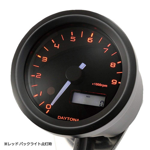 Daytona Velona Tachometer, 48mm, 9000rpm, Black