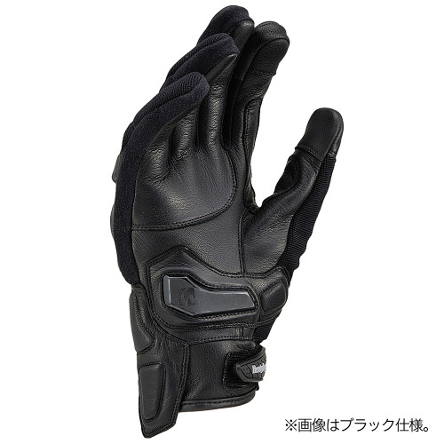 Henly Begins Carbon Protector Motorcycle Gloves All Season, Black