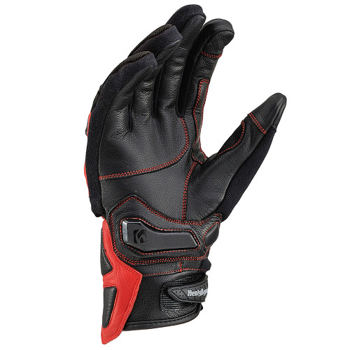 Henly Begins Carbon Protector Motorcycle Gloves All Season, Red