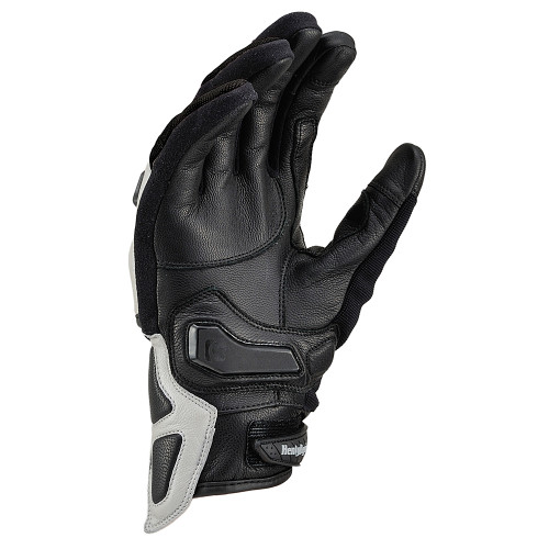 Henly Begins Carbon Protector Motorcycle Gloves All Season, Silver